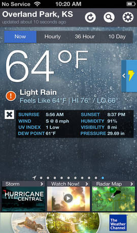 The Weather Channel iphon application